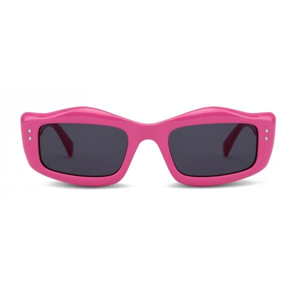 Moschino - Occhiali da Sole con Dettaglio Micro Borchie - Fucsia - Moschino Eyewear