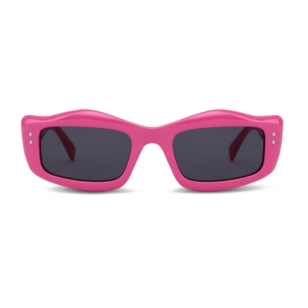 Moschino - Sunglasses with Micro Studs Detail - Fuchsia - Moschino Eyewear