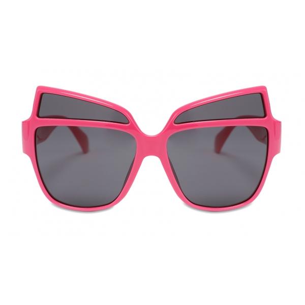 Moschino - Occhiali da Sole con Logo in Metallo - Fucsia - Moschino Eyewear
