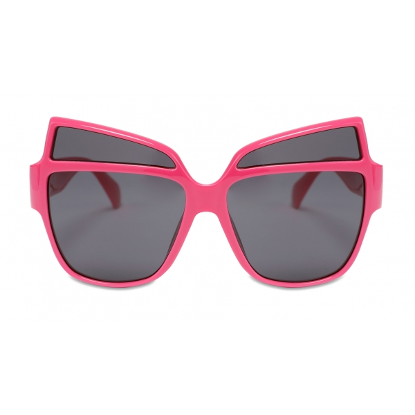 Moschino - Sunglasses with Metal Logo - Fuchsia - Moschino Eyewear