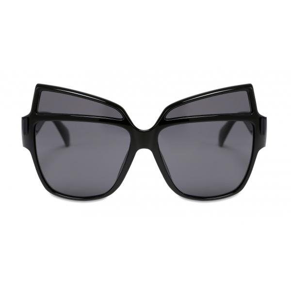 Moschino - Occhiali da Sole con Logo in Metallo - Nero - Moschino Eyewear