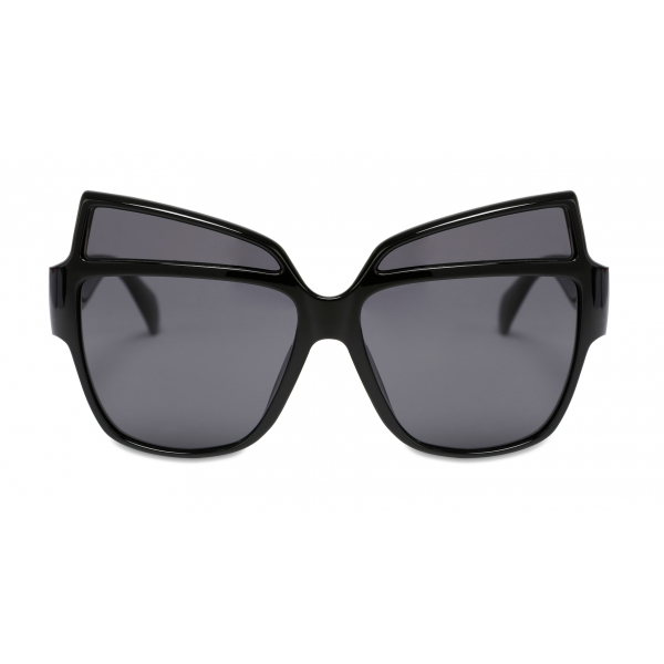 Moschino - Sunglasses with Metal Logo - Black - Moschino Eyewear