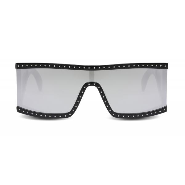 Moschino - Occhiali da Sole Rettangolari con Lenti Specchiate Argento - Nero - Moschino Eyewear