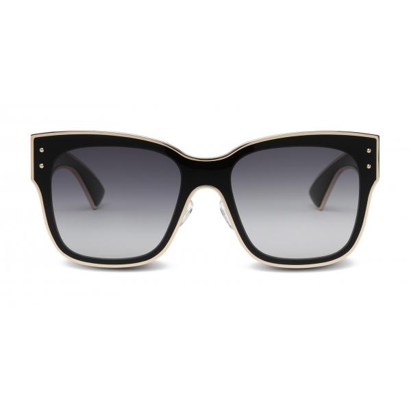 Moschino - Sunglasses with Gold Profiles - Black - Moschino Eyewear