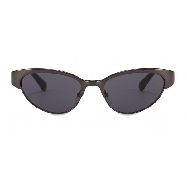 Moschino - Cat-Eye Metal Sunglasses - Black - Moschino Eyewear