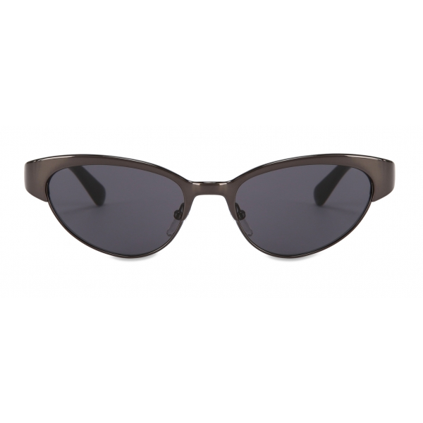 Moschino - Occhiali da Sole Cat-Eye in Metallo - Nero - Moschino Eyewear