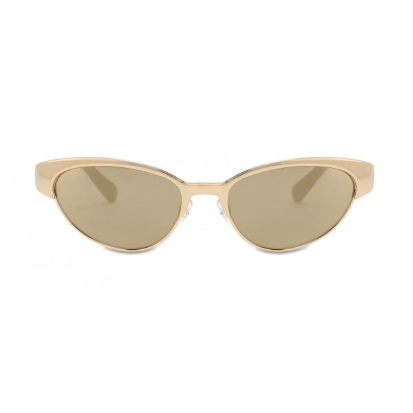 Moschino - Cat-Eye Metal Sunglasses - Gold - Moschino Eyewear