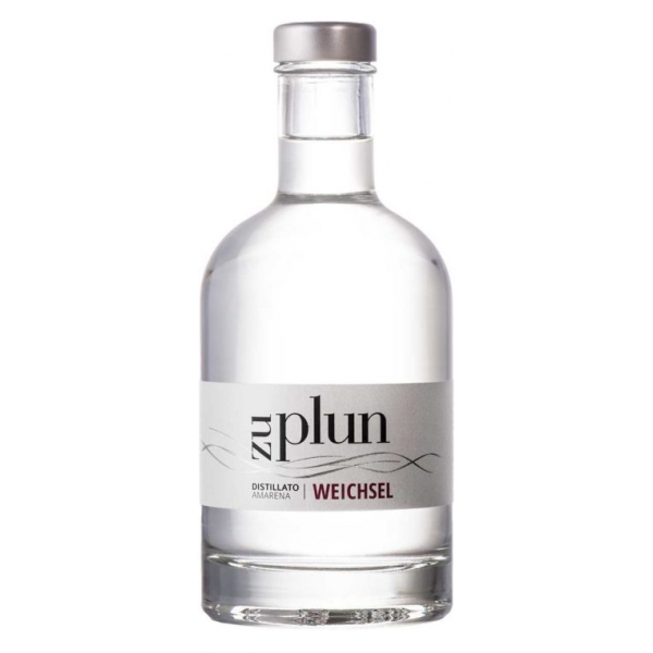 Zu Plun - Sour Cherry Grappa Weichsel - Distillates Fruit Grappa from The Dolomites - High Quality - Liqueurs and Spirits