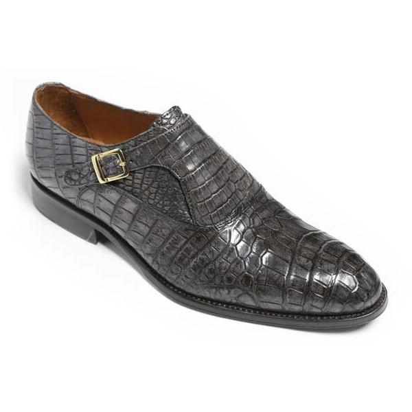 Vittorio Martire - Sofisticato - Grey - Trendy Collection - Crocodile - Italian Handmade Shoes - Luxury Leather