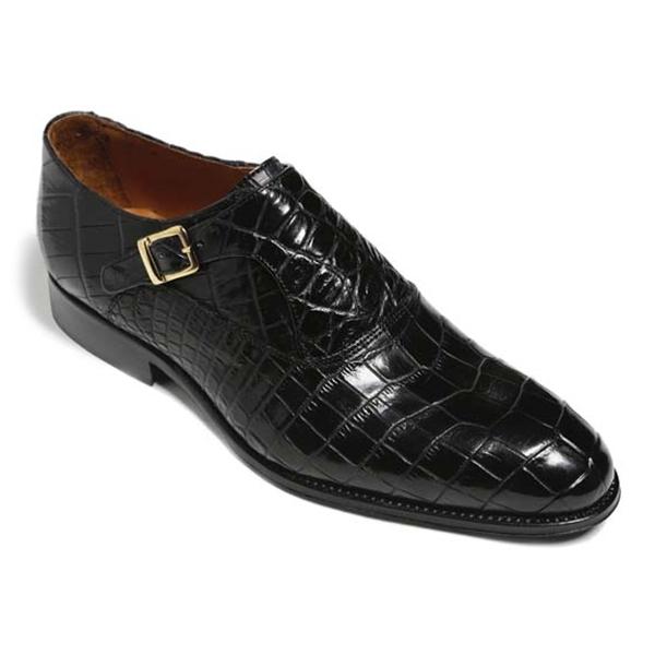 Vittorio Martire - Sofisticato - Black - Trendy Collection - Crocodile - Italian Handmade Shoes - Luxury Leather