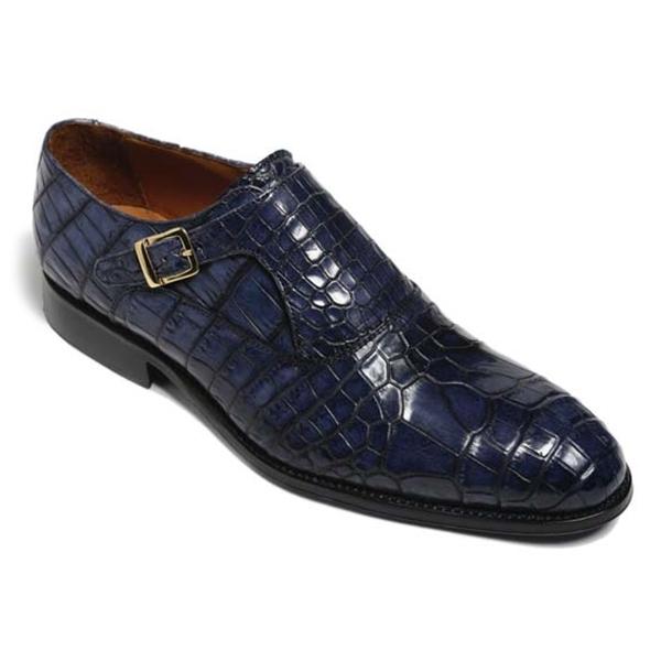 Vittorio Martire - Sofisticato - Blu - Trendy Collection - Coccordillo - Scarpe Artigianali Italiane - Pelle Luxury