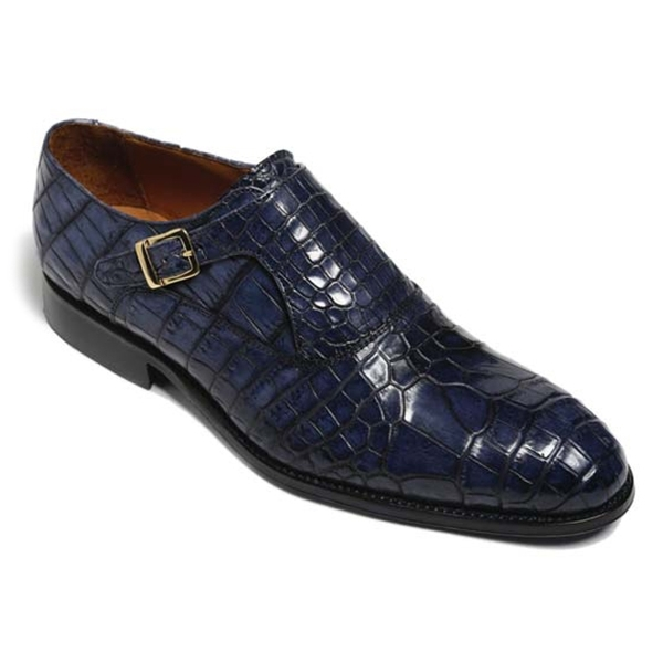 Vittorio Martire - Sofisticato - Blue - Trendy Collection - Crocodile - Italian Handmade Shoes - Luxury Leather