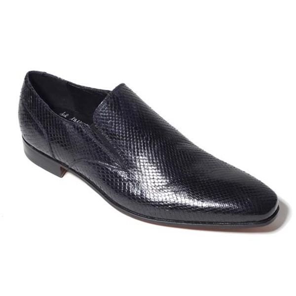 Vittorio Martire - Corrado - Nero - Trendy Collection - Pitone - Scarpe Artigianali Italiane - Pelle Luxury