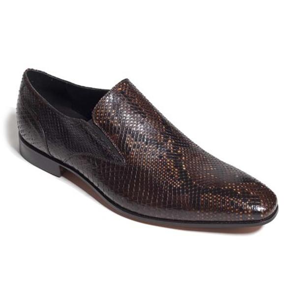 Vittorio Martire - Corrado - Marrone - Trendy Collection - Pitone - Scarpe Artigianali Italiane - Pelle Luxury