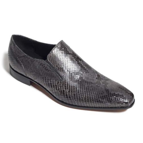 Vittorio Martire - Corrado - Grigio - Trendy Collection - Pitone - Scarpe Artigianali Italiane - Pelle Luxury