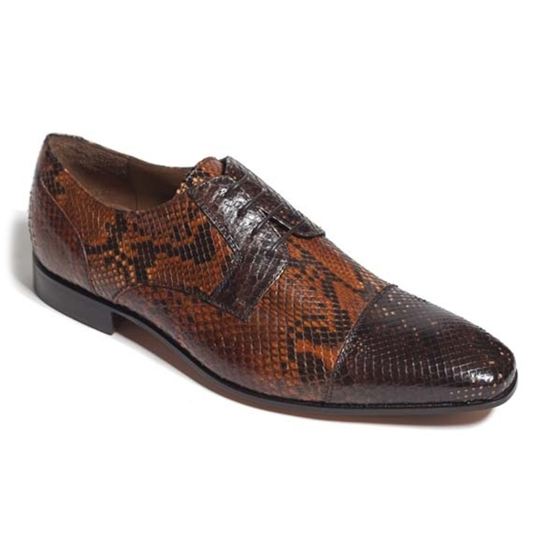 Vittorio Martire - Cavallo - Brown - Trendy Collection - Python - Italian Handmade Shoes - Luxury Leather