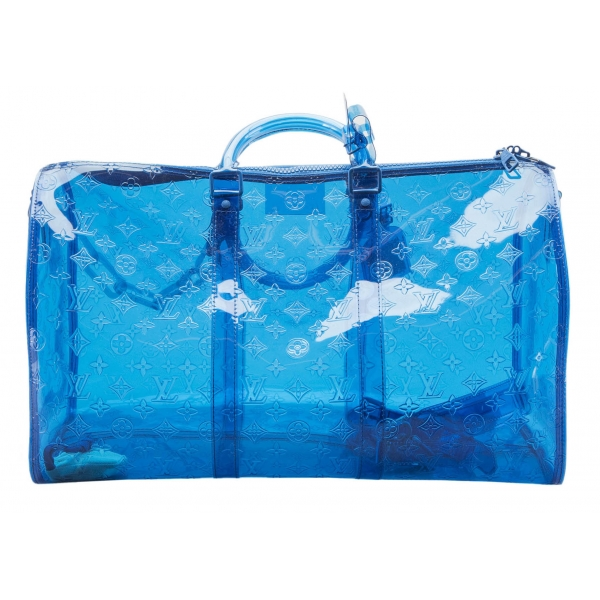 Louis Vuitton Vintage - RGB Keepall Bandouliere 50 - Blue - Plastic and PVC - Luxury High Quality