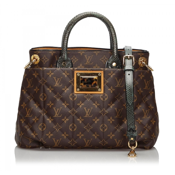 Louis Vuitton Vintage - Monogram Etoile Exotique MM - Brown - Canvas and Python Leather Handbag - Luxury High Quality