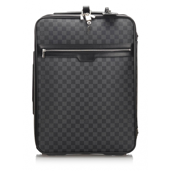 Louis Vuitton Vintage - Damier Graphite Pegase 55 - Black Gray - Damier Canvas and Leather Trolley - Luxury High Quality