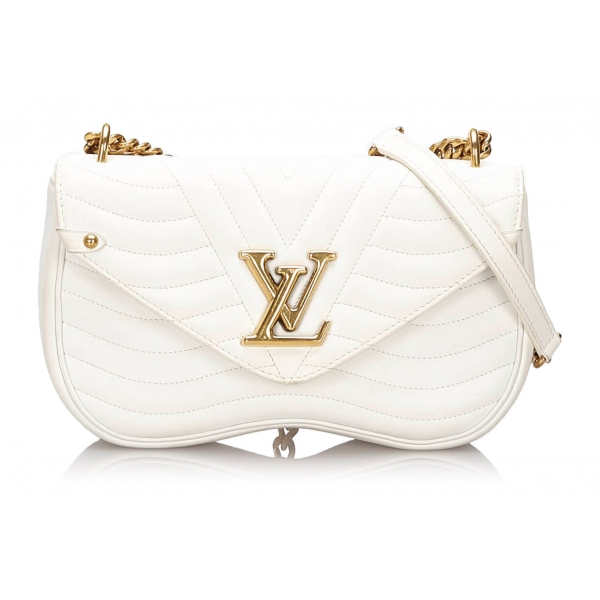 Louis Vuitton Vintage - New Wave Chain Bag MM - Bianco - Borsa in Pelle e Metallo - Alta Qualità Luxury