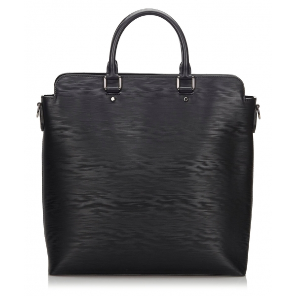 Louis Vuitton Vintage - Epi Brooks Tote - Black - Leather and Epi Leather Handbag - Luxury High Quality