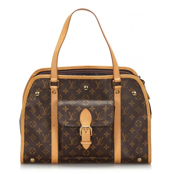 Louis Vuitton Vintage - Monogram Sac Baxter GM - Brown - Canvas and Vanchetta Leather Handbag - Luxury High Quality