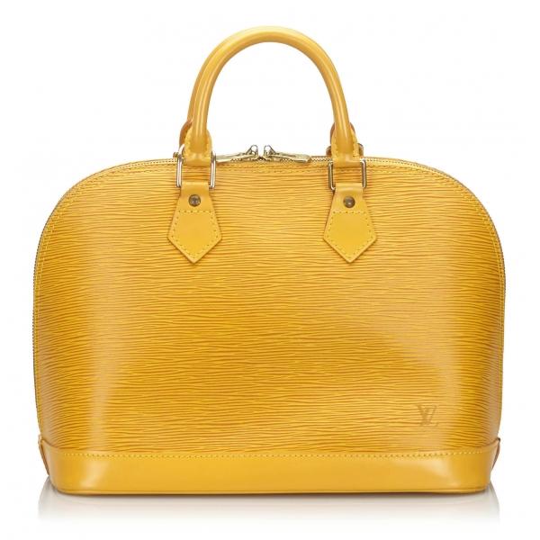 Louis Vuitton Vintage - Epi Alma PM - Yellow - Leather and Epi Leather Handbag - Luxury High Quality