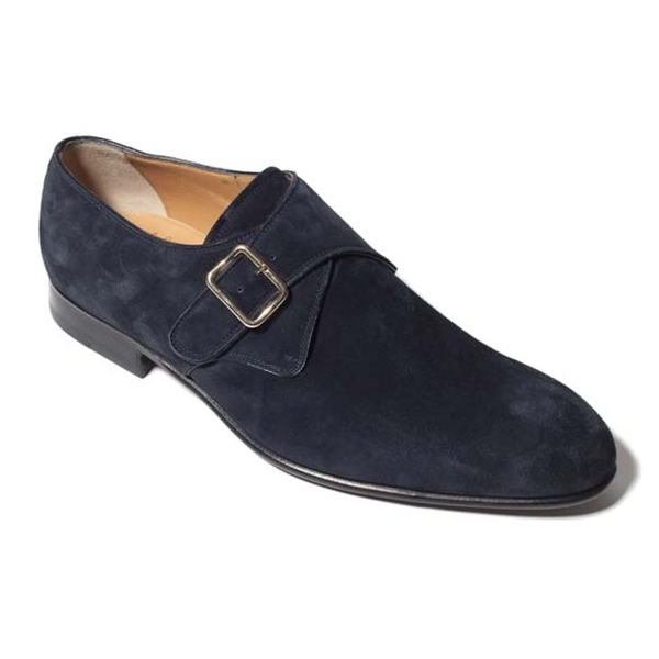 Vittorio Martire - Alonso - Blue - Classic Collection - Suede - Italian Handmade Shoes - Luxury Leather