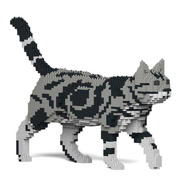 Jekca - American Shorthair - Gatto - 02S-M01 - Lego - Scultura - Costruzione - 4D - Animali di Mattoncini - Toys