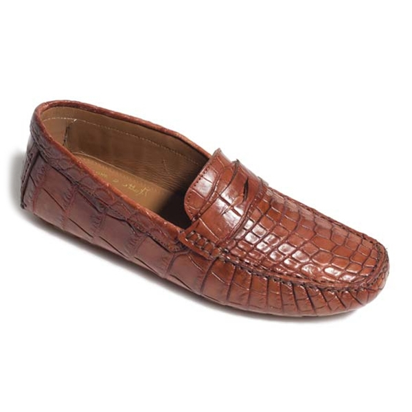 Vittorio Martire - Andrea - Brown - Casual Collection - Crocodile - Italian Handmade Shoes - Luxury Leather