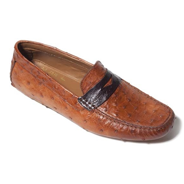 Vittorio Martire - Filippo - Brown - Casual Collection - Ostrich - Italian Handmade Shoes - Luxury Leather