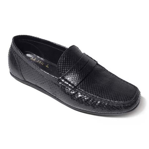 Vittorio Martire - Sigismondo - Black - Casual Collection - Python - Italian Handmade Shoes - Luxury Leather