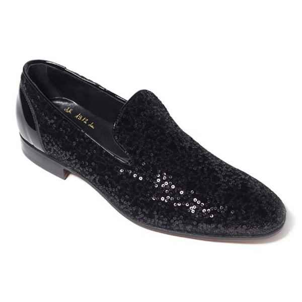 Vittorio Martire - Edmondo - Black - Red Carpet Collection - Paillettes - Italian Handmade Shoes - Luxury Leather