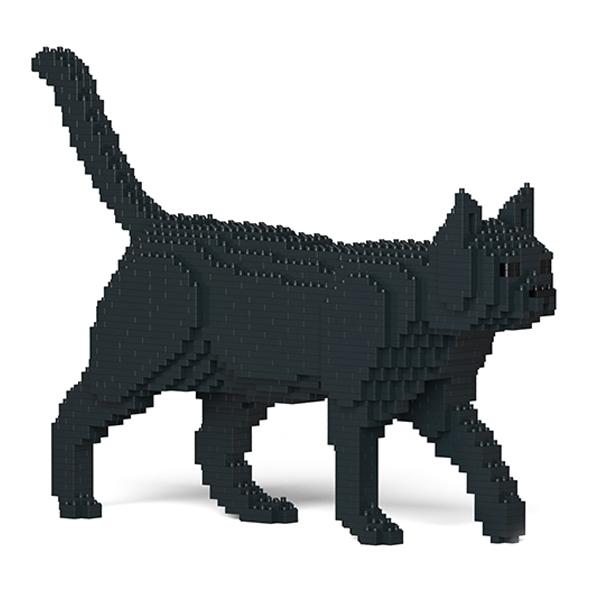 Jekca - American Shorthair - Nero - Gatto - 07S-M02 - Lego - Scultura - Costruzione - 4D - Animali di Mattoncini - Toys