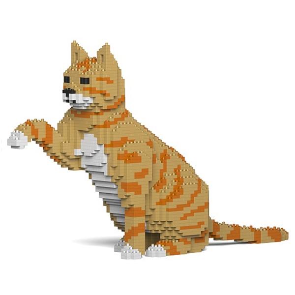 Jekca - American Shorthair - Gatto Arancione - 04S-M01 - Lego - Scultura - Costruzione - 4D - Animali di Mattoncini - Toys