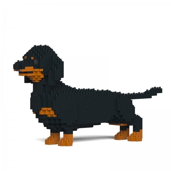 Jekca - Bassotto - Cane - 02S-M01 - Lego - Scultura - Costruzione - 4D - Animali di Mattoncini - Toys