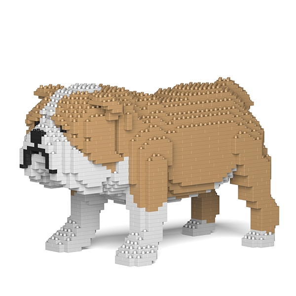 Jekca - Bulldog Inglese - Cane - 01S-M03 - Lego - Scultura - Costruzione - 4D - Animali di Mattoncini - Toys
