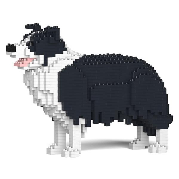 Jekca - Border Collie - Cane - 01S-M01 - Lego - Scultura - Costruzione - 4D - Animali di Mattoncini - Toys