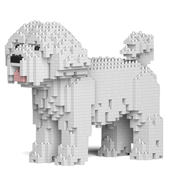 Jekca - Maltese - Dog - 01S - Lego - Sculpture - Construction - 4D - Brick Animals - Toys