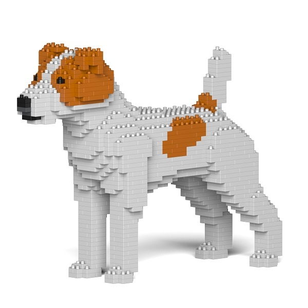 Jekca - Jack Russell Terrier - Dog - 01S-M01 - Lego - Sculpture - Construction - 4D - Brick Animals - Toys