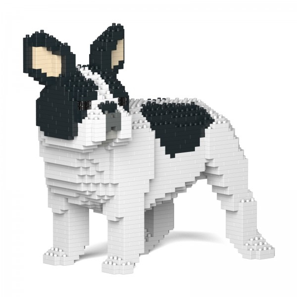 Jekca - French Bulldog - Dog - 03S-M04 - Lego - Sculpture - Construction - 4D - Brick Animals - Toys