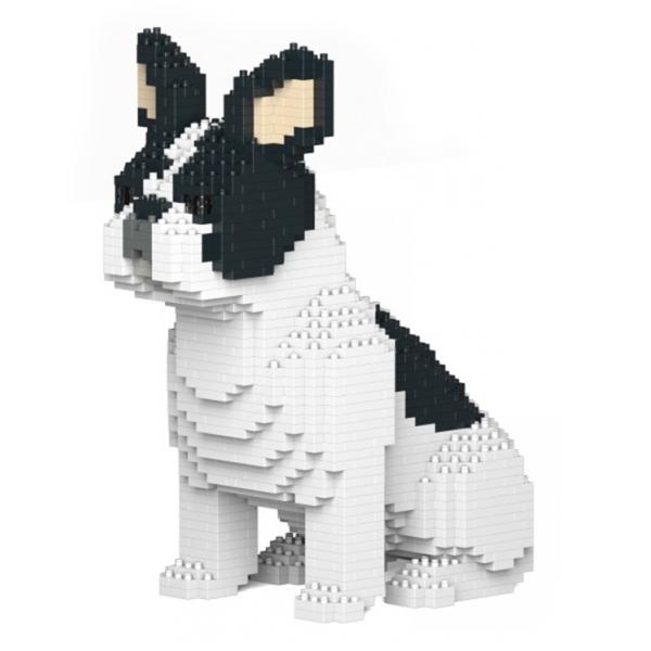 Jekca - French Bulldog - Dog - ST19FB04-M04 - Lego - Sculpture - Construction - 4D - Brick Animals - Toys