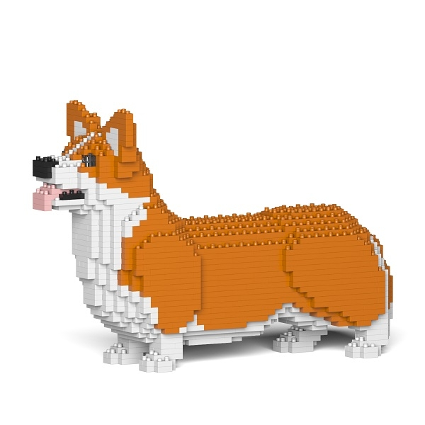 Jekca - Welsh Corgi - Cane - 02S-M01 - Lego - Scultura - Costruzione - 4D - Animali di Mattoncini - Toys