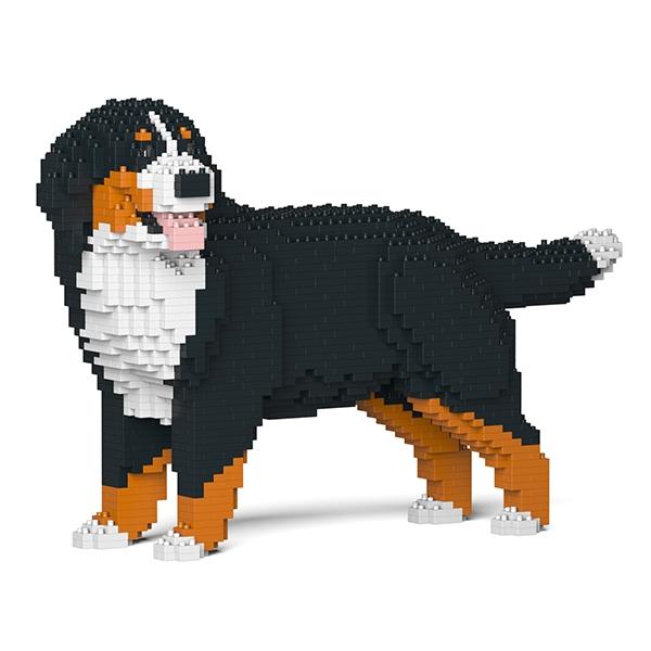 Jekca - Bernese Mountain Dog - Dog - 03S - Lego - Sculpture - Construction - 4D - Brick Animals - Toys