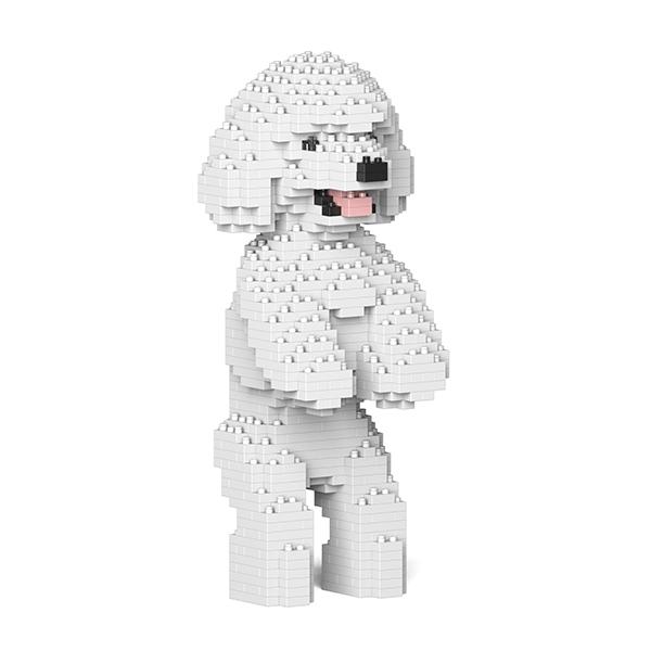Jekca - Barboncino Nano - Cane - 04S-M01 - Lego - Scultura - Costruzione - 4D - Animali di Mattoncini - Toys