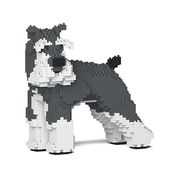 Jekca - Standard Schnauzer - Cane - 02S-M01 - Lego - Scultura - Costruzione - 4D - Animali di Mattoncini - Toys