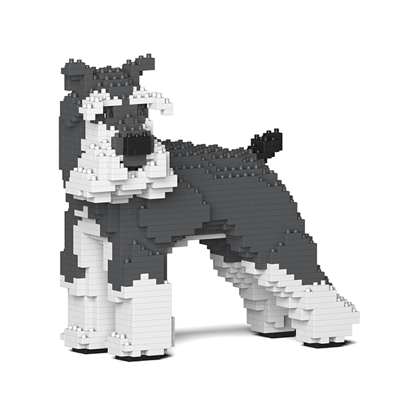 Jekca - Standard Schnauzer - Dog - 02S-M01 - Lego - Sculpture - Construction - 4D - Brick Animals - Toys