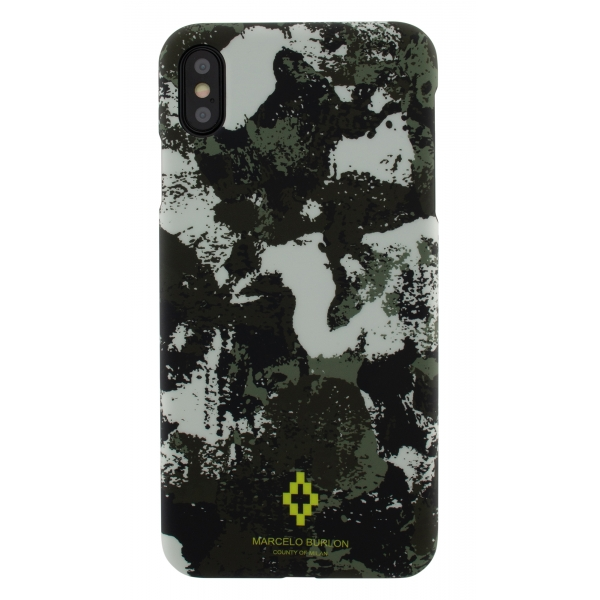 Marcelo Burlon - Cross Camou Cover - iPhone 11 Pro Max - Apple - County of Milan - Printed Case