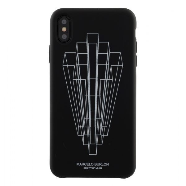 Marcelo Burlon - Black Logo Third Dimension RSD Cover - iPhone 11 Pro Max - Apple - County of Milan - Printed Case