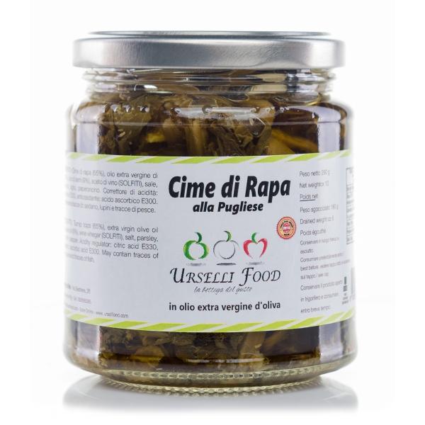 Urselli Food - Cime di Rapa alla Pugliese in Olio Extravergine di Oliva - Olio di Alta Qualità Italiano - Puglia